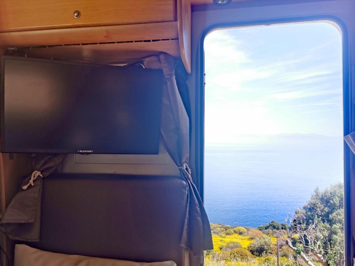 televisione in camper