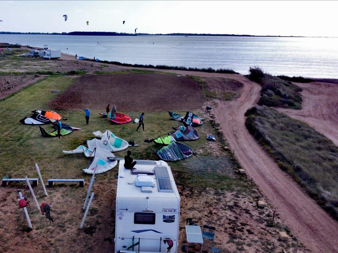 camper e kitesurf